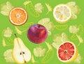Free Abstract Fruit Illustration Orange Apple Stock Photos - 17606723