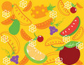 Free Abstract Fruit Illustration Orange Apple Royalty Free Stock Image - 17606736