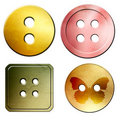 Free Four Buttons Isolated On White Royalty Free Stock Image - 17608356
