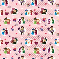 Free Seamless Valentine S Day Pattern Royalty Free Stock Images - 17600079