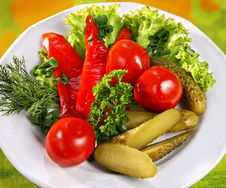 Marinaded Vegetables Royalty Free Stock Photo