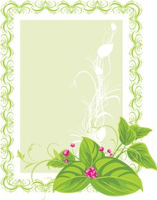 Free Decorative Frame. Spring Bouquet Royalty Free Stock Photos - 17600478