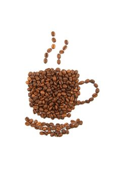 Free Cup Of Coffee From The Beans Royalty Free Stock Images - 17601059