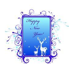 Free New Year Card Royalty Free Stock Photos - 17601068