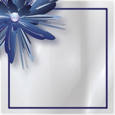 Free Blue Flower Background Royalty Free Stock Photos - 17601398