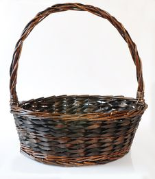 Free Brown Basket Royalty Free Stock Photography - 17601827