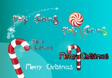 Free Christmas Logos Royalty Free Stock Photos - 17601988