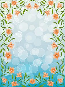 Free Floral Frame Royalty Free Stock Image - 17602056