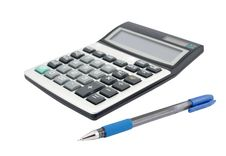 Free Calculator And A Pen Royalty Free Stock Photos - 17602708