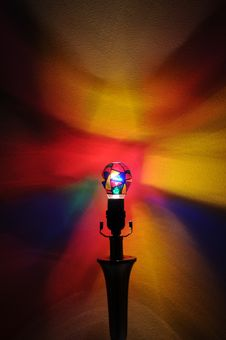 Free Rainbow Party Lightbulb Royalty Free Stock Image - 17603156