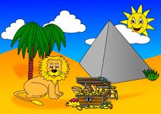 Free Lion Treasure Pyramid Royalty Free Stock Images - 17603729