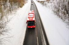 Free Red Bus. Royalty Free Stock Photography - 17604197
