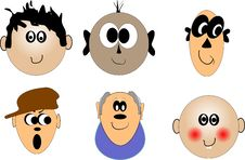 Free Faces Of Various Ages Royalty Free Stock Images - 17604559