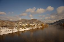 Free Neckar At Winter, River In Heidelberg, Germany Royalty Free Stock Image - 17604976