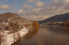 Free Neckar At Winter, River In Heidelberg, Germany Stock Photo - 17605000