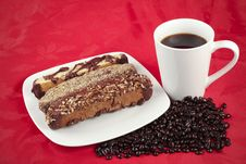 Free Coffee And Biscotti Royalty Free Stock Image - 17605806