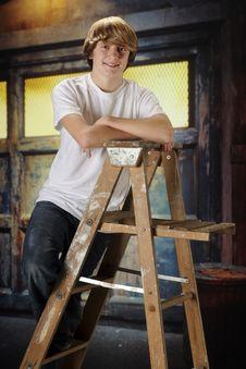 Free Happy Ladderl-Teen Stock Photo - 17606340