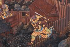 Free Masterpiece Of Traditional Thai Style Painting Art Royalty Free Stock Photo - 17606535