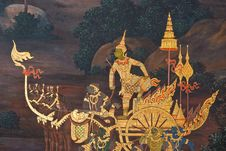 Free Masterpiece Of Traditional Thai Style Painting Art Royalty Free Stock Images - 17606619