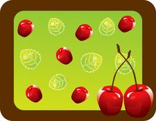 Abstract Fruit Illustration Cherry Red Stock Images