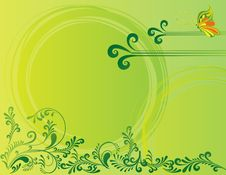 Free Abstract Flower Illustration Flower Spring Green Stock Image - 17606841