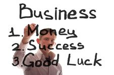 Free The Businessman Writes About Business Royalty Free Stock Photo - 17608705