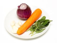 Free Vegetable Selection To Use With Meat Stock Images - 17609044