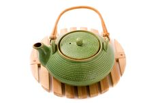 Free Green Teapot On Stand Stock Photo - 17609150
