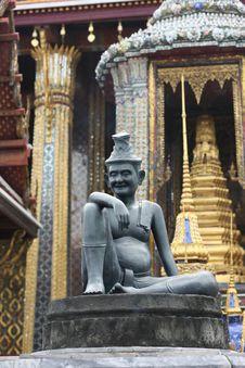 Statue On Entrance In Royal Palace, Bangkok Royalty Free Stock Image