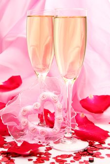 Free Wine And Petals Stock Photo - 17609890