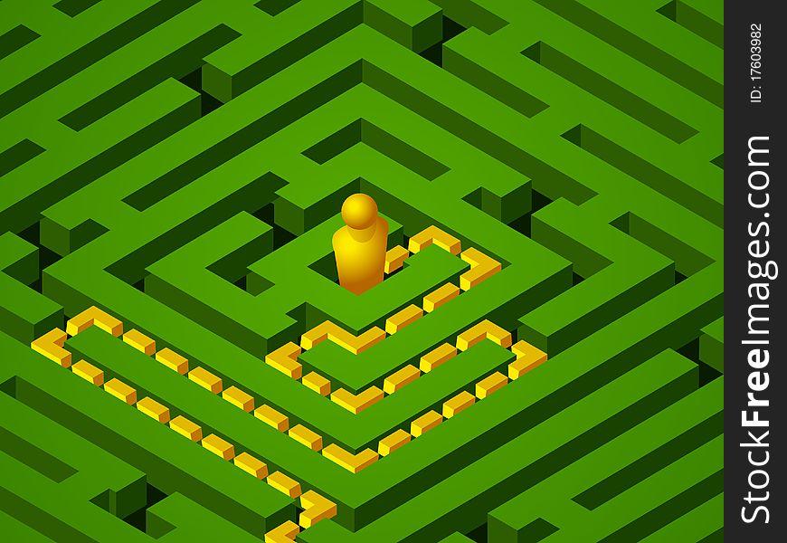 Green maze success