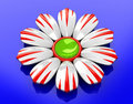 Free Ceramic Flower On Blue Background Royalty Free Stock Images - 17617279
