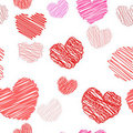 Free Seamless Hearts Pattern Royalty Free Stock Photos - 17619468