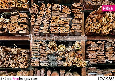 Wood store Stock Photo