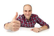 Young Man Showing Thumb Up Royalty Free Stock Photos