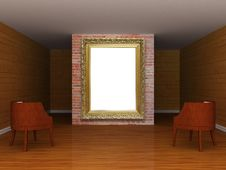 Free Gallery S Hall With Ornate Frame Royalty Free Stock Photography - 17610217