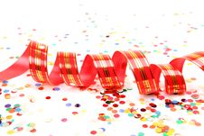 Confetti And Streamer Royalty Free Stock Images