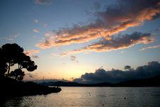 Free Sunset At The Coast Of Santa Ponca Royalty Free Stock Photo - 17610805