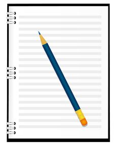 Free A Notebook With A Pencil Royalty Free Stock Image - 17611116