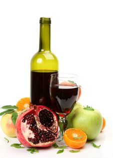 Free Wine And Fruit Stock Image - 17611211