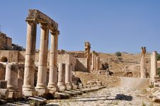 Free Jerash Ruins Royalty Free Stock Photo - 17611415