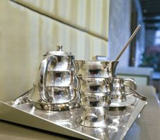 Free Silver Coffee Set Stock Image - 17611621