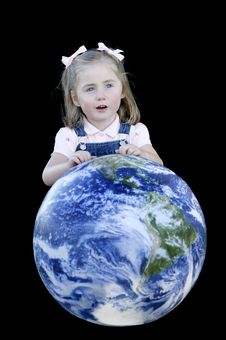 Child Talking About The Earth Stock Photography