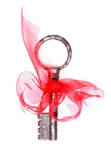 Key And Ribbon Stock Images