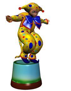 Free Harlequin Jumping Royalty Free Stock Photography - 17614207