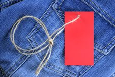 Free Blank Label For Text On Jeans Stock Photos - 17614273