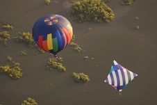 Free Two Hot Air Balloons Over Water Stock Photos - 17614283