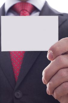 Free Businessman Showing Businesscard Royalty Free Stock Photography - 17614697