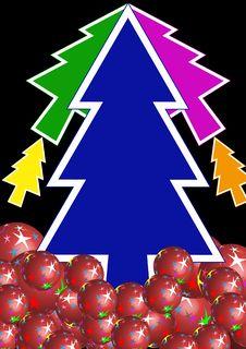 Free Colorful Xmas Tree Royalty Free Stock Image - 17614796