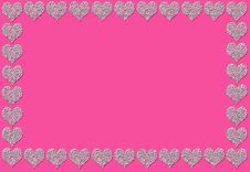 Pink Abstract Hearts Design Stock Photo